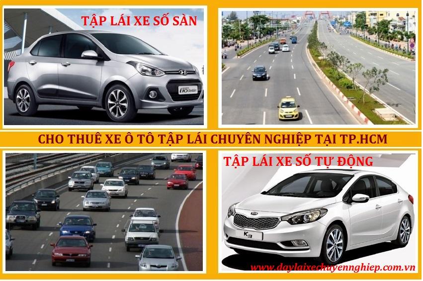 Thuê xe ô tô tập lái